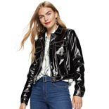 Women's Nine West Faux-Leather Trucker Jacket