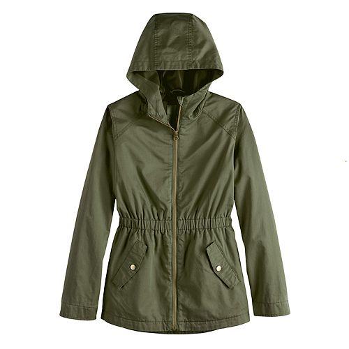 Girls' 4-20 SO® Zip-Front Anorak Jacket