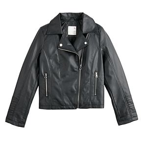 Girls 6-20 SO Faux Leather Jacket