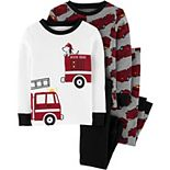 Baby Boy Carter's 4 Piece Firetruck Pajama Set