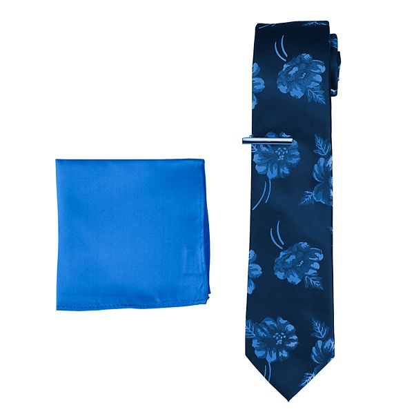 Men's Pierre Cardin Tie, Tie Bar & Pocket Square Set