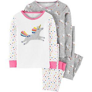 Baby Girl Carter's 4 Piece Unicorn Pajama Set