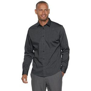 Men's Apt. 9® No-Iron Modern-Fit Solid Button-Down Shirt