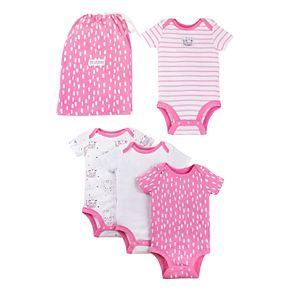 Baby Girl 4-Pack Lamaze Pure Organic Bodysuit