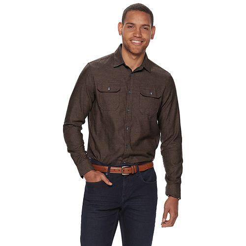 Men's Apt. 9® Modern-Fit 2-Pocket Soft Flannel Shirt