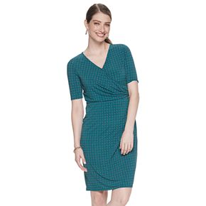 Women's Dana Buchman Elbow Sleeve Wrap Dress
