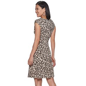 Women's Dana Buchman Print Fit & Flare Dress