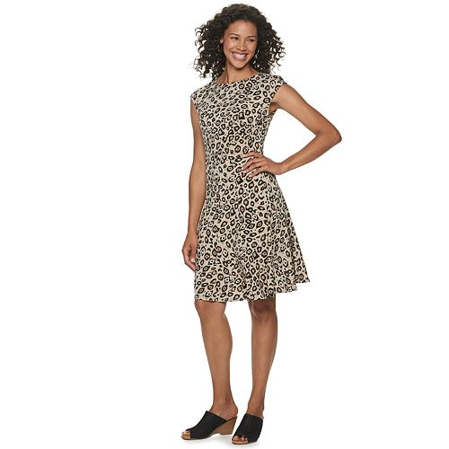 Women's Dana Buchman Print Fit & Flare Dress