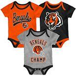 Baby NFL Cincinnati Bengals Champ Bodysuit 3-Pack