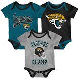 Baby NFL Jacksonville Jaguars Champ Bodysuit 3-Pack
