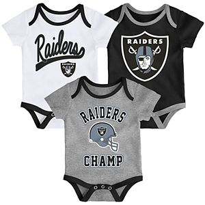 Baby NFL Oakland Raiders Champ Bodysuit 3-Pack