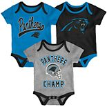 Baby NFL Carolina Panthers Champ Bodysuit 3-Pack