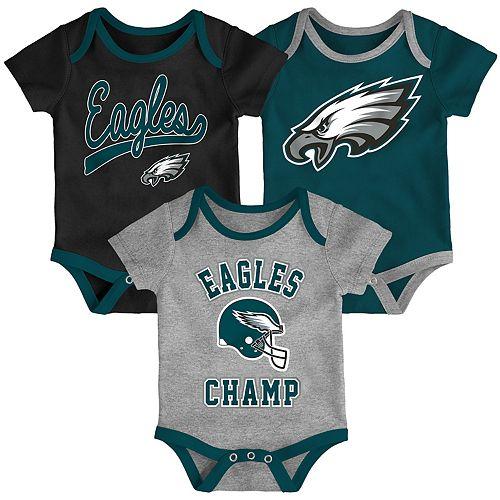 Baby NFL Philadelphia Eagles Champ Bodysuit 3-Pack