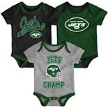Baby NFL New York Jets Champ Bodysuit 3-Pack