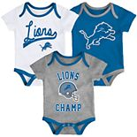 Baby Boy NFL Detroit Lions Champ Bodysuit 3-Pack