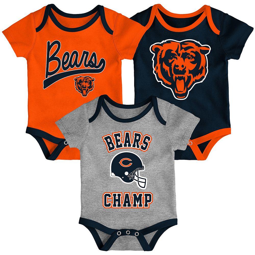Baby NFL Chicago Bears Champ Bodysuit 3-Pack