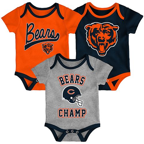 Baby NFL Chicago Bears Champ Bodysuit 3-Pack
