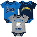 Baby Boy NFL Los Angeles Chargers Champ Bodysuit 3-Pack