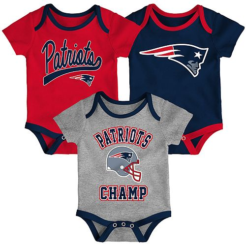 official photos b5125 ecb70 Baby NFL New England Patriots Champ Bodysuit 3-Pack