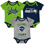 Baby NFL Seattle Seahawks Champ Bodysuit 3-Pack
