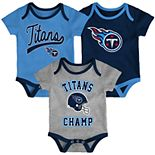 Baby Boy NFL Tennessee Titans Champ Bodysuit 3-Pack