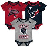 Baby NFL Houston Texans Champ Bodysuit 3-Pack