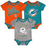 Baby Boy NFL Miami Dolphins Champ Bodysuit 3-Pack