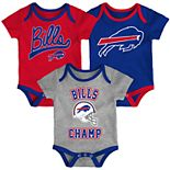 Baby Boy NFL Buffalo Bills Champ Bodysuit 3-Pack