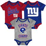 Baby Boy NFL New York Giants Champ Bodysuit 3-Pack