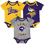 Baby NFL Minnesota Vikings Champ Bodysuit 3-Pack