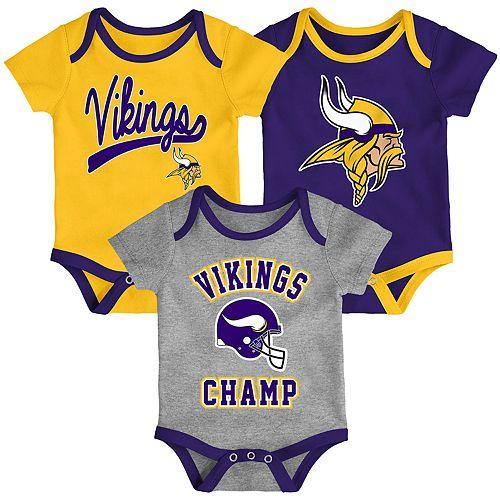 6cff369693e9 Baby NFL Minnesota Vikings Champ Bodysuit 3-Pack