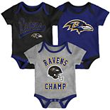 Baby NFL Baltimore Ravens Champ Bodysuit 3-Pack