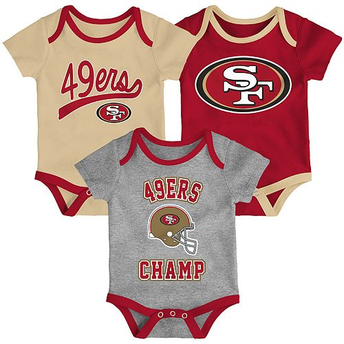 Baby NFL San Francisco 49ers Champ Bodysuit 3-Pack