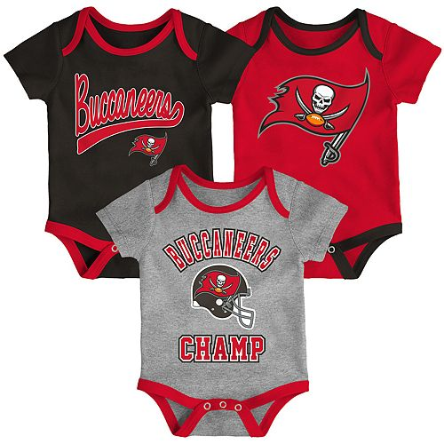 Baby NFL Tampa Bay Buccaneers Champ Bodysuit 3-Pack
