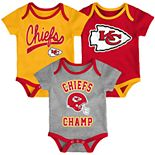Baby NFL Kansas City Chiefs Champ Bodysuit 3-Pack