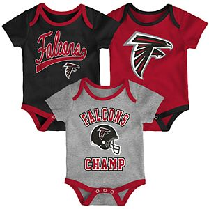 Baby NFL Atlanta Falcons Champ Bodysuit 3-Pack