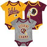 Baby NFL Washington Redskins Champ Bodysuit 3-Pack