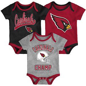 Baby NFL Arizona Cardinals Champ Bodysuit 3-Pack