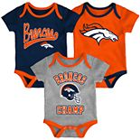 Baby NFL Denver Broncos Champ Bodysuit 3-Pack