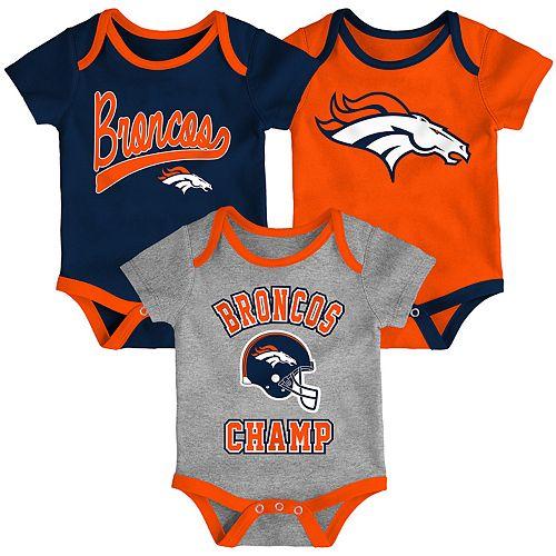 1eb9c80d Baby NFL Denver Broncos Champ Bodysuit 3-Pack