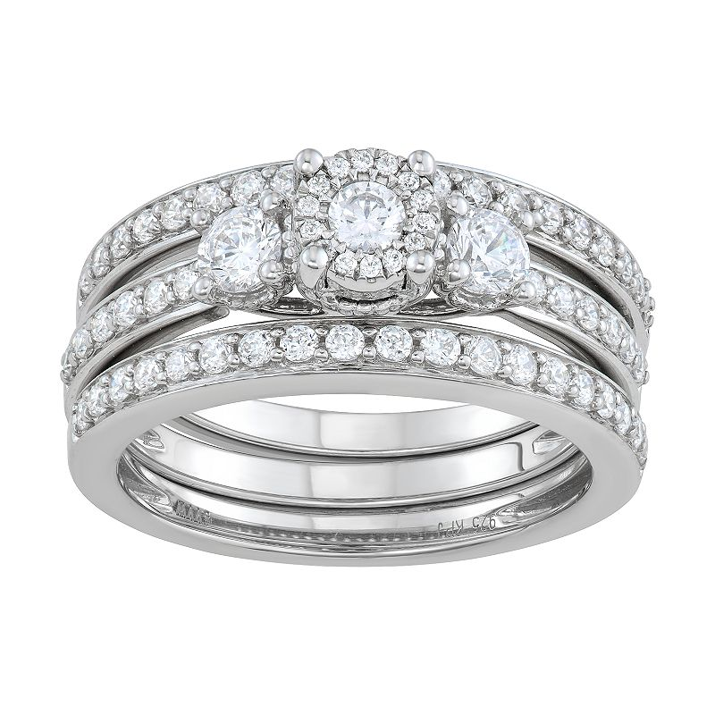 Simply Vera Vera Wang 14k White Gold 1 Carat T.W. Diamond Engagement Ring Set. Women's. Size: 6