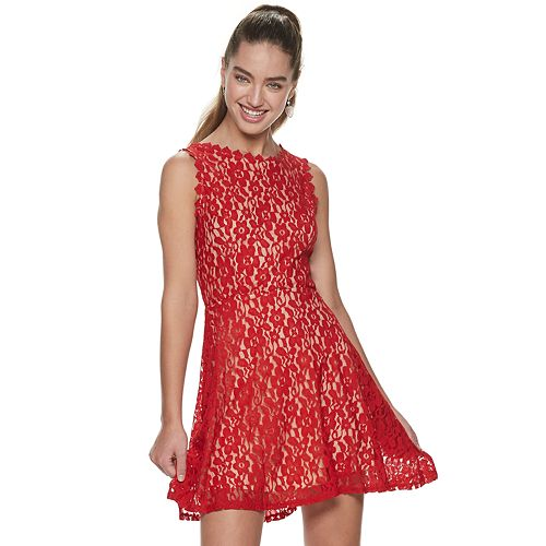 Juniors' Lily Rose All Over Lace Skater