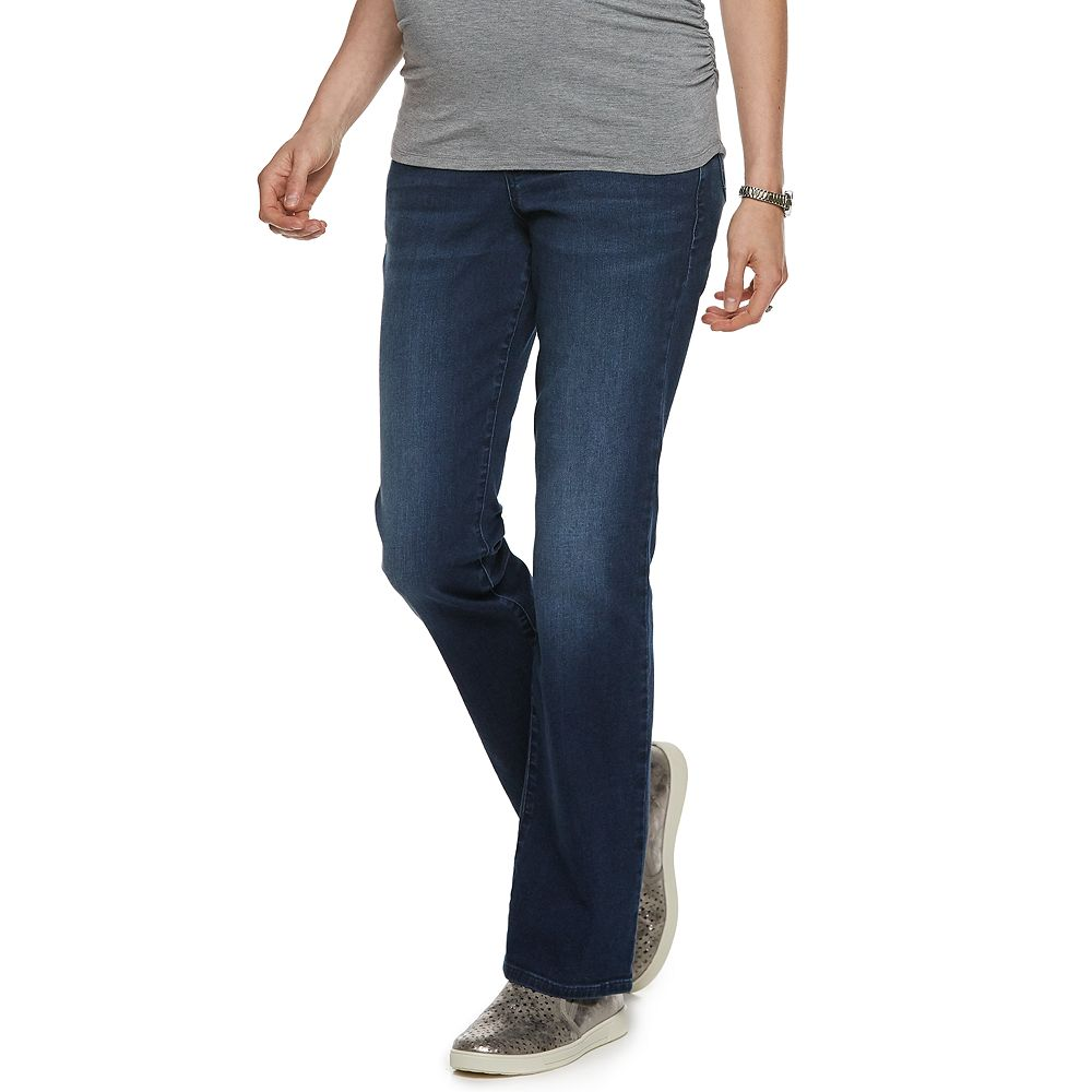 Maternity a:glow™ Full Belly Panel Bootcut Jeans