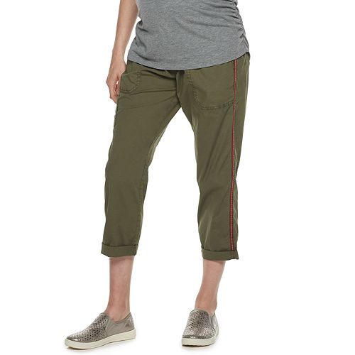 Maternity a:glow Over-The-Belly Utility Capri Pants