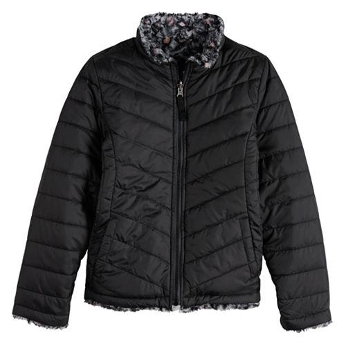 Girls 7-20 SO® Reversible Faux-Fur Jacket