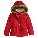 Girls 7-20 SO® Quilted Fleece-Lined Anorak