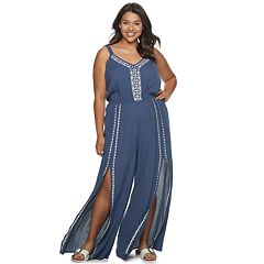 Juniors' American Rag Embroidered Jumpsuit