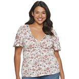 Juniors' American Rag Ruched Front Top