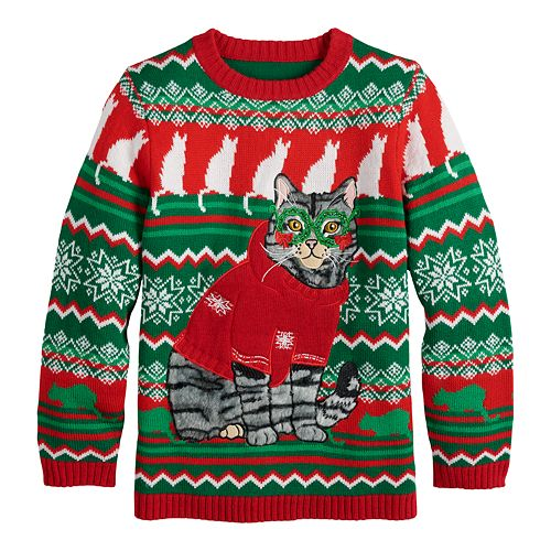 Boys 8-20 Happy Holidays Christmas Pullover Sweater