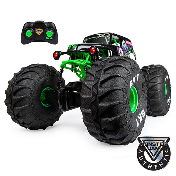 Monster Jam Official Mega Grave Digger All Terrain Remote Control Monster Truck With Lights By Spinmaster
